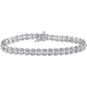 Bracelet Wg 14K Round Cut Prong Set 2.65 Carats Sparkling Diamonds Tennis Bracelet
