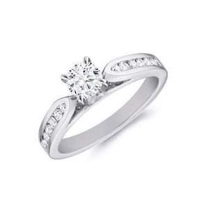 Brilliant Cut White Gold 14K  2.10 Carats Diamonds Engagement Ring Engagement Ring