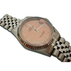 Bronze Roman Dial Date Just Men Rolex Datejust Watch Rolex