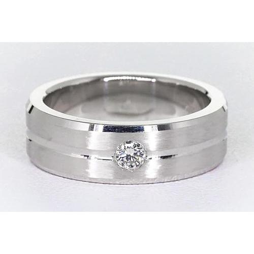 Brushed Finish Round Diamond Anniversary Band 0.25 Carats Band