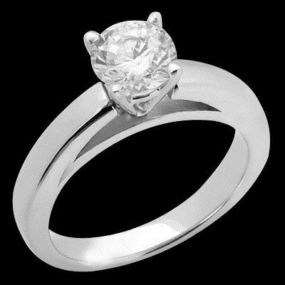Cathedral Setting 3 Ct. E Vvs1 Diamond Solitaire Ring Solid White Gold Solitaire Ring