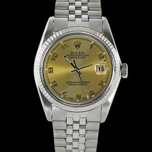 Champagne Arabic Dial Ss Jubilee Bezel Rolex Men Watch Datejust Rolex