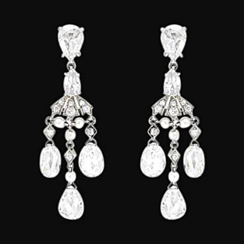Chandelier Diamonds 2.50 Carat Earring Pair White Gold Earrings Chandelier Earring