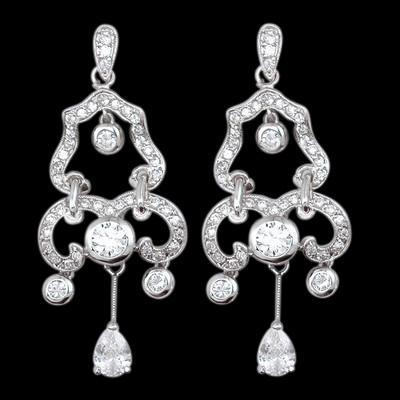 Chandelier Diamonds Earrings Hanging White Gold 2 Carat Diamond Earring Chandelier Earring
