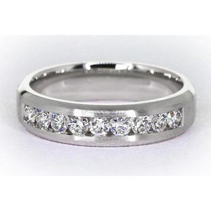 Channel Set Band Diamond Jewelry Mens Ring