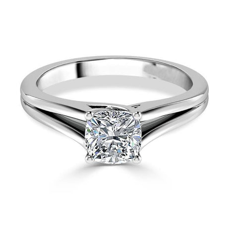 Cushion Cut 1.75 Ct Solitaire Diamond Engagement Ring White Gold 14K Solitaire Ring