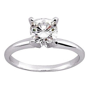 Cushion Cut Diamond Solitaire Ring 1.25 Ct. White Gold Solitaire Ring