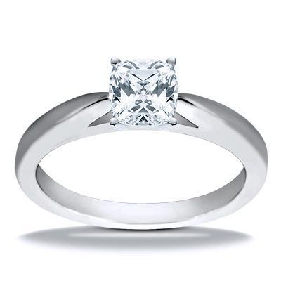 Cushion Cut Solitaire 1.25Ct Diamonds Anniversary Ring White Gold 14K Solitaire Ring