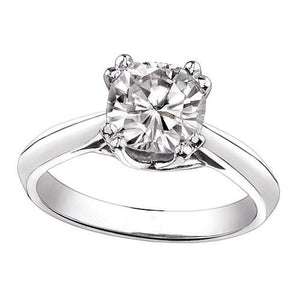 Cushion Diamond 1 Carat Solitaire Engagement Ring Solitaire Ring