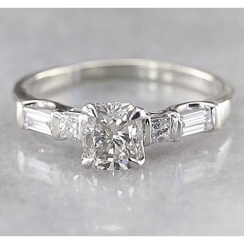 Cushion Diamond Engagement Ring 1.75 Carats F Vs1 Vvs1 White Gold 14K Engagement Ring