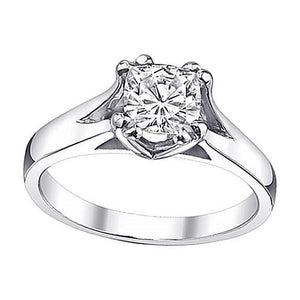 Cushion Diamond Women Solitaire Ring White Gold New 0.75 Carat I Si1 Solitaire Ring