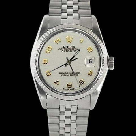 Datejust Watch Fluted Bezel Ss Jubilee Bracelet Men Rolex Rolex