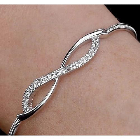 Diamond Bangle 3 Carats F Vs1 White Gold Jewelry 14K Bangle