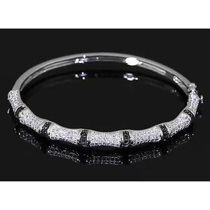 Diamond Bangle 6 Carats Women White Gold Jewelry Bangle