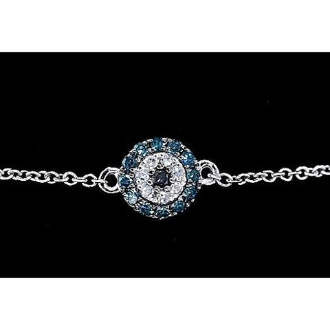 Diamond Bracelet Ceylon Sapphire 2 Carats Women Jewelry New Gemstone Bracelet