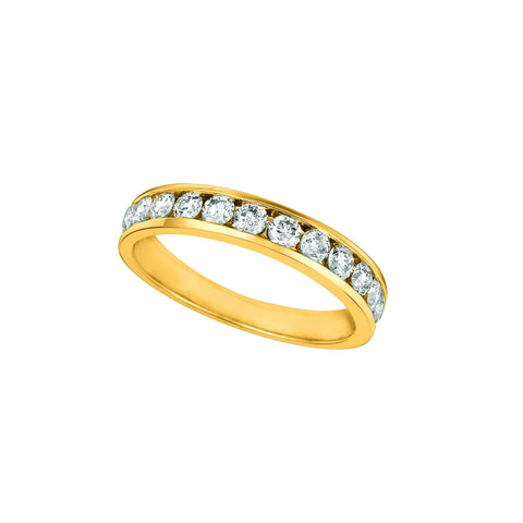 Diamond Channel Eternity Band 0.75 Carats 14K Yellow Eternity Band