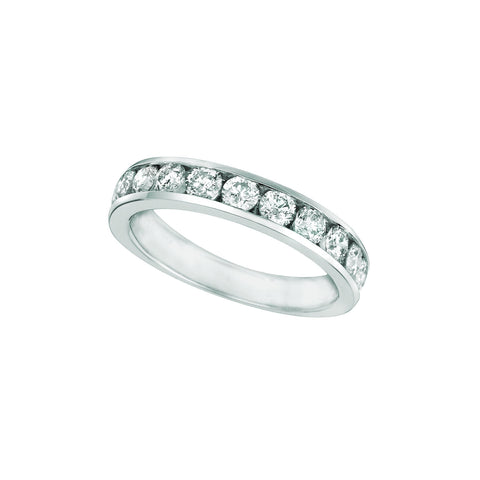 Diamond Channel Eternity Band 1.25 Carats 14K White Eternity Band