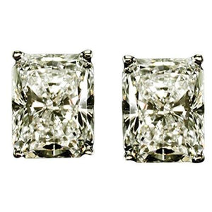 Diamond Earring 4 Ct. Stud White Gold Diamond Earring Stud Earrings