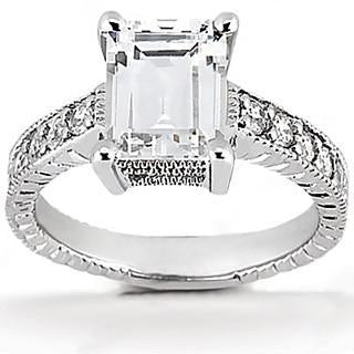 Diamond Engagement Ring 1.51 Ct. Diamonds White Gold Engagement Ring