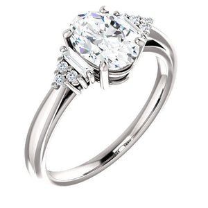 Diamond Engagement Ring 2.20 Carats Split Shank Women Jewelry Engagement Ring