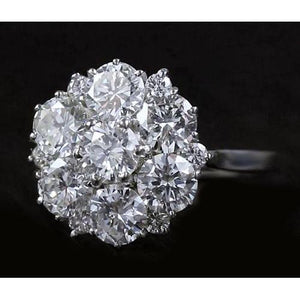 Diamond Engagement Ring 3.80 Carats Antique Style Women Jewelry Engagement Ring