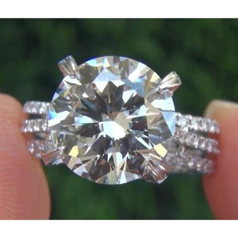 Diamond Engagement Ring 4.50 Carats Split Shank Claw Setting Jewelry Engagement Ring