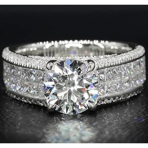 Diamond Engagement Ring 6 Carats Claw Prong Setting Women Jewelry Engagement Ring