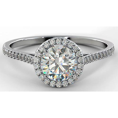 Diamond Engagement Ring Halo 2.75 Carats Women Jewelry Halo Ring