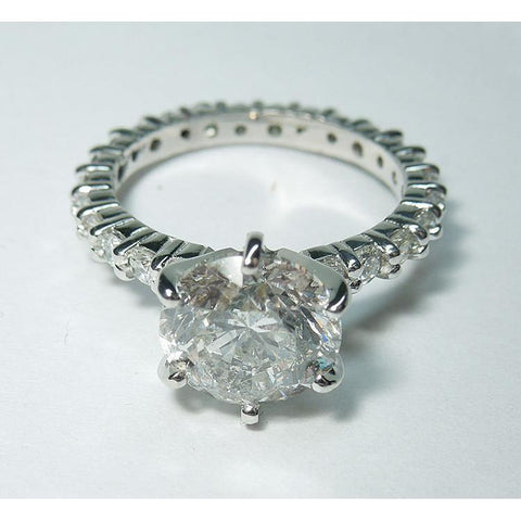 Diamond Engagement Ring White Gold 5.26 Carats Engagement Ring