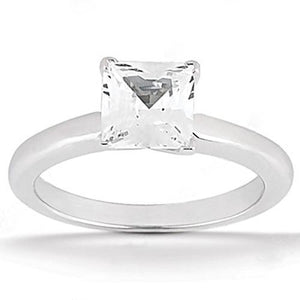 Diamond Engagement Women Ring G Si1 Diamond 1.01 Ct Princess Cut White Gold Solitaire Solitaire Ring