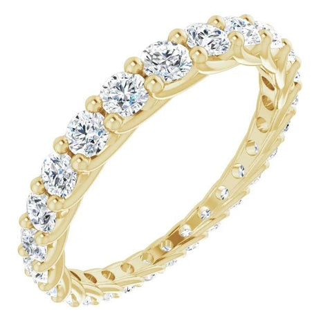 Diamond Eternity Band 1.50 Carats Trellis Setting Women Jewelry New Eternity Band