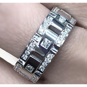 Diamond Eternity Wedding Band 2 Carats Men Jewelry Eternity Band