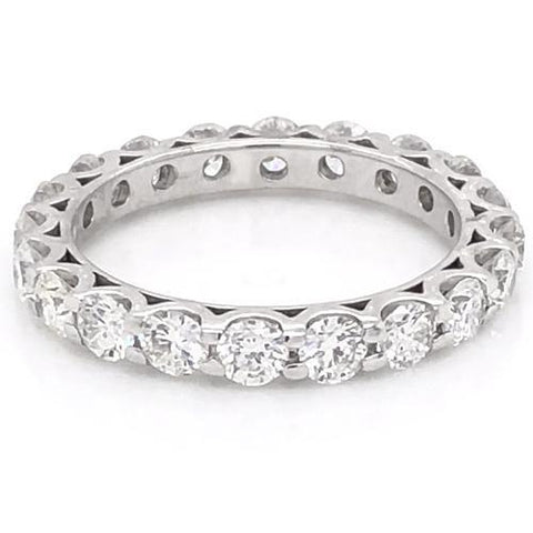 Diamond Eternity Wedding Band 3 Carats U Scallop Setting White Gold Women Jewelry Eternity Band