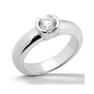 Diamond F Vs1 Solitaire Ring 1.01 Ct. White Gold Solitaire Ring