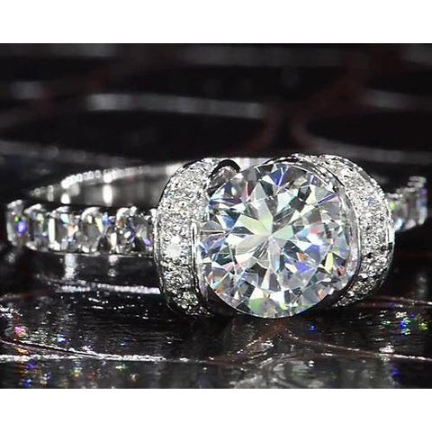 Diamond Ring 3.50 Carats Engagement Ring