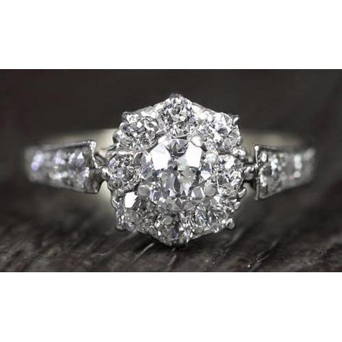 Diamond Ring Vintage Style 2 Carats Milgrain Accented Jewelry New Engagement Ring