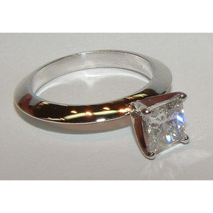Diamond Solitaire Engagement Ring 0.75 Ct. Diamond Jewelry Ring White Gold Solitaire Ring