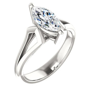 Diamond Solitaire Ring 1.50 Carats Basket Setting Women Jewelry Solitaire Ring