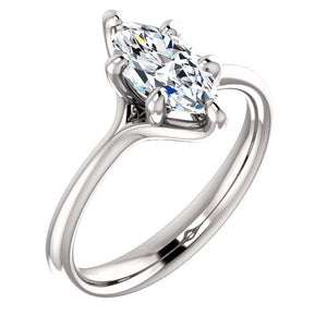 Diamond Solitaire Ring 2.50 Carats Six Claw Prong Setting White Gold Solitaire Ring