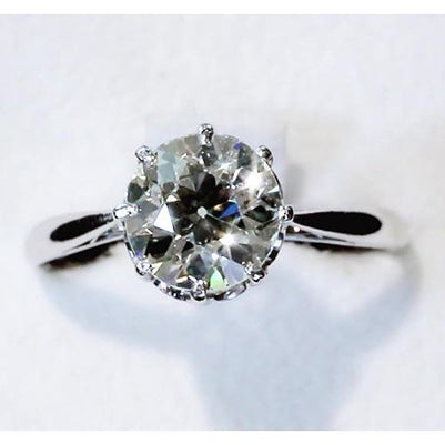 Diamond Solitaire Ring 3 Carats Old Mine Cut Classic Women Jewelry Solitaire Ring
