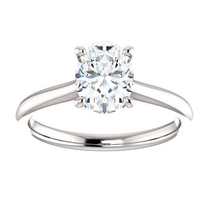 Diamond Solitaire Ring 5 Carats Cathedral Setting White Gold 14K Solitaire Ring