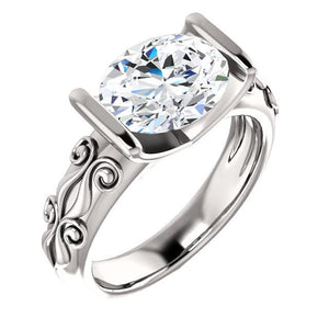 Diamond Solitaire Ring Antique Style 2.50 Carats Filigree Solitaire Ring