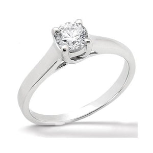 Diamond Solitaire Ring Prong Style 1.0 Ct. White Gold Solitaire Ring