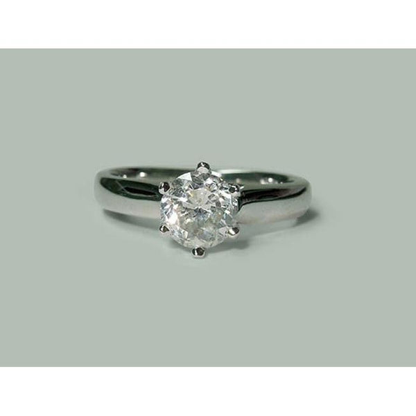 Diamond Solitaire Ring White Gold 1.31 Carat Diamond Jewelry Ring Solitaire Ring