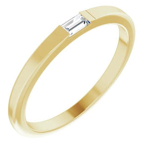 Diamond Solitaire Wedding Band 0.40 Carats Yellow Gold 14K Men'S Ring Mens Ring