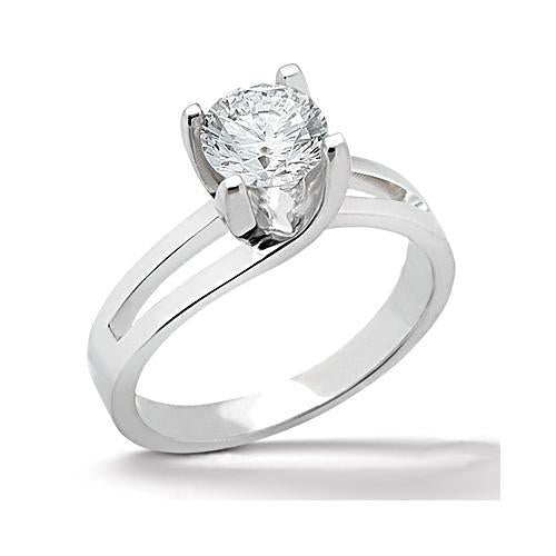Diamond Solitaire Women Engagement Ring White Gold 1.25 Carat Solitaire Ring