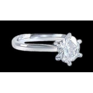 Diamond Solitaire Women Engagment Ring F Vs1 White Gold 2 Carat Solitaire Ring