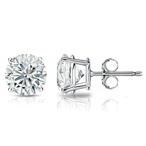 Diamond Stud Earring 5 Carats 4 Prong Setting Round Cut Solitaire Gold Jewelry Stud Earrings