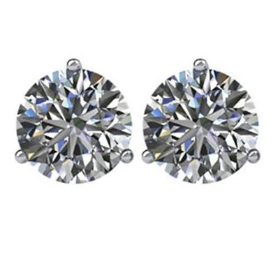 Diamond Stud Earrings 2 Carats Women Jewelry White Gold 14K Stud Earrings