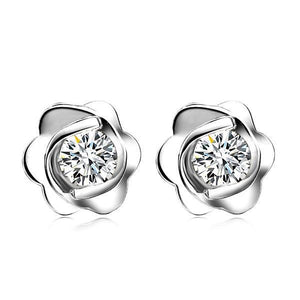 Diamond Stud Fine Earring 1.05 Carats Women White Gold 14K Stud Earrings